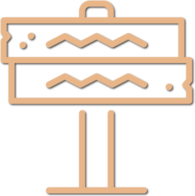 Illustration of a Trail Sign