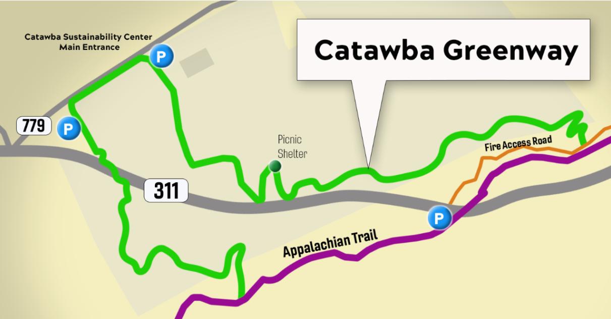 Location of new Catawba Greenway Trail